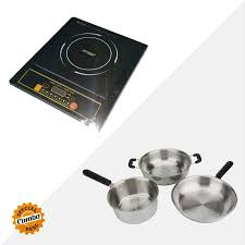 Induction Cooktop Cookware Sheffield Classic Sh3001 2000w Induction Cooktop Ss Cookware Set