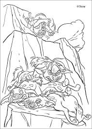 the lion king coloring pages shenzi banzai and ed trio of