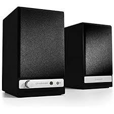 Bookshelf Speakers Wiki Amazon Com Vanatoo Transparent One Powered Speakers Black Set