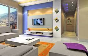 wall colour combination of with purple image home design