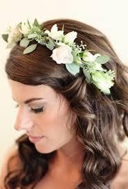 crowning floral spray 25 stunning flower crown ideas for brides weddingomania