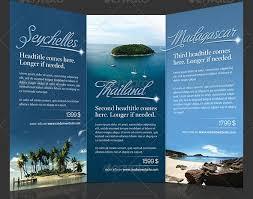 fancy brochure templates trifold travel brochure template fieldstation co