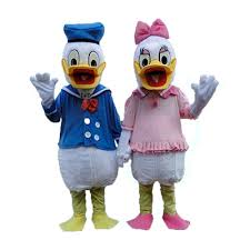donald costume one pair of donald duck and mascot costumes
