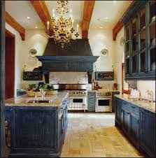kitchen creating natural ambience with rustic kitchen cabinets