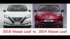 nissan leaf new model 2018 nissan leaf vs 2014 nissan leaf u2013 old vs new interior