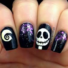 new nail design ideas classic themed creepy halloween polish