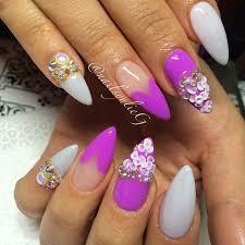 226 best pointed gel nails desgins images on pinterest gel nails