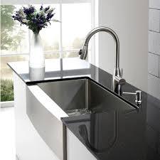 decor modern kitchen with kraus sink and quartz countertops also