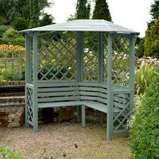 Patio Umbrellas B Q by Chiltern Wooden Corner Arbour Assembly Required Departments