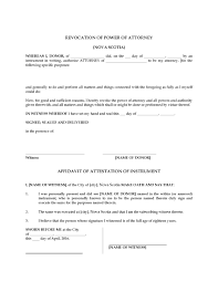 Personal Power Of Attorney Sample by Nova Scotia Revocation Of Power Of Attorney Legal Forms And