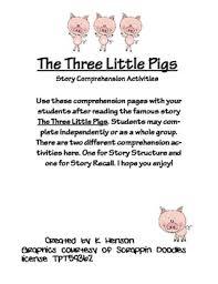 pigs comprehension activities henson tpt