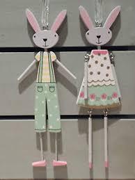 Gisela Graham Easter Decorations 2016 by U0026 Boy Easter Bunny Wooden Decorations Gisela Graham Hanging