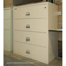 Fireproof Lateral File Cabinet 4 Drawer Size Fireproof Lateral File Cabinets Pre Owned