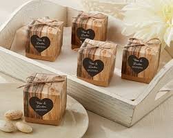favors wedding hearts in rustic favor box set of 24