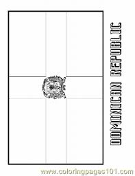 dominican republic flag coloring page dominican republic flag