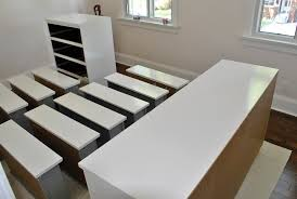 Upcycle Laminate Furniture - how to paint ikea furniture including expedit kallax lack and
