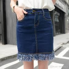 denim skirts plus size casual denim skirts womens 2017 feminina vintage ripped