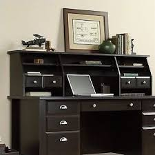 sauder desk with hutch sauder shoal creek organizer desk hutch jamocha wood ebay