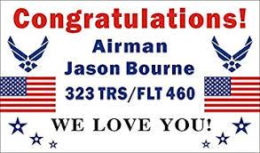 graduation sign 3ftx5ft personalized congratulations airman u s us