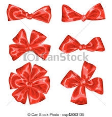 gift bows set of satin gift bows and ribbons vectors search clip