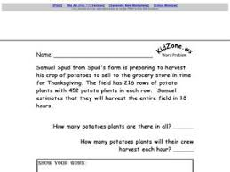 multiple step word problem thanksgiving multiplication and