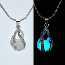 unique night glow pendant necklace to wear in parties heavenkart