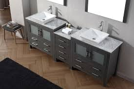 virtu usa 90 u2033 dior double sink vanity zebra grey without faucet