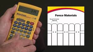 Estimates For Fence Installation by Material Estimator Fence Material Calculations How To