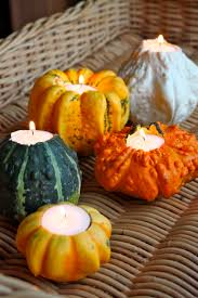 Table Decorating Ideas by Pumpkin Candle Holders Thanksgiving Decor Pinterest