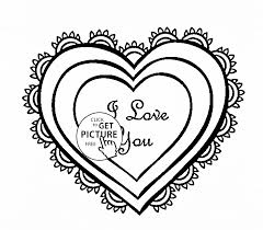 heart love coloring kids girls coloring pages
