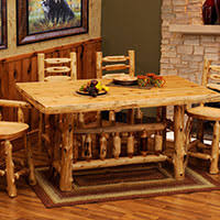 Log Dining Room Tables Cedar Log Furniture Cabin Place