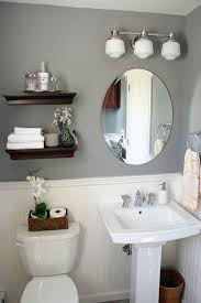 Gray And White Bathroom - it u0027s just paper at home powder room renovation i like
