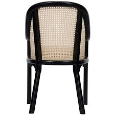 noir gaston chair w caning and linen u2013 ldc home