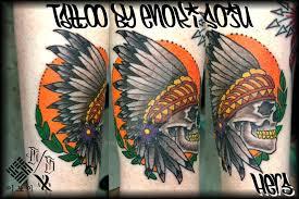 indian headdress tattoo on ribs matching his hers skull indian headdress tattoos by enokisoju on