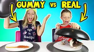 gummy vs real food 4 youtube