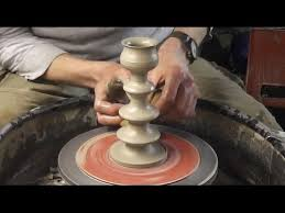 throwing a pot making throwing a pottery candlestick on the wheel youtube