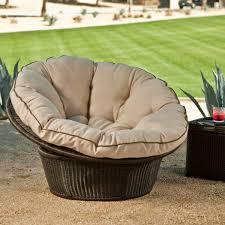 furniture charming rattan outdoor papasan chair with grey cushion