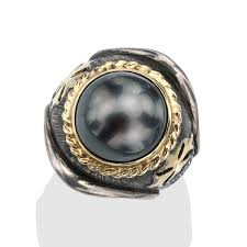 ring men sea pearl men s maltese iron cross ring
