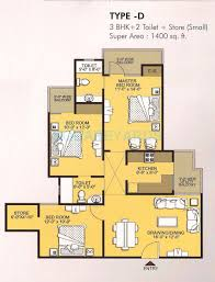 1400 Sq Ft 3 Bhk 1400 Sq Ft Apartment For Sale In Vvip Addresses At Rs
