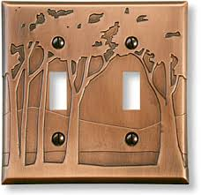 craftsman style light switches tree motif light switch plate
