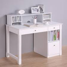 Computer Desk Hard Wood Deluxe White Wood Computer Desk With Hutch Great Deals Shopping