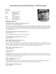 Vfx Jobs Resume by Download Rich Salinas Cv Docshare Tips