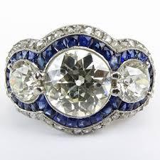 stunning art deco design approx 3 51 carat center stone european