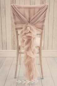 dusky pink ruffle chair sash unique wedding décor u2026 pinteres u2026