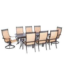 Bar Height Patio Set With Swivel Chairs Bar Height Dining Sets Outdoor Bar Furniture The Home Depot