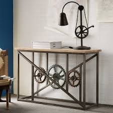 wood and iron sofa table buy indian hub evoke iron and wooden industrial console table with