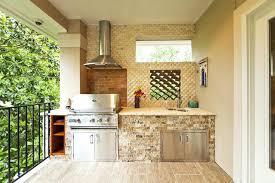Outdoor Kitchen Backsplash Ideas Outside Kitchen Ideas If You A Spacious Balcony Then An