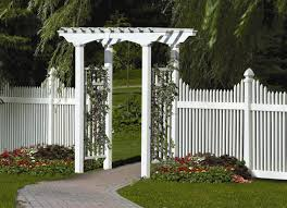 white vinyl arbors u2013 outdoor decorations