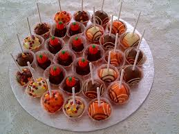 cake pops and fours for thanksgiving fours are