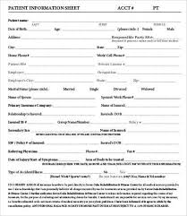 Patient Information Sheet Template Information Templates Cvlook01 Billybullock Us